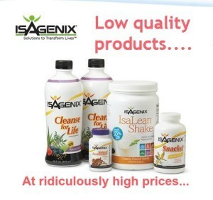 Isagenix; Poor Quality Supplements at a Ridiculous Price